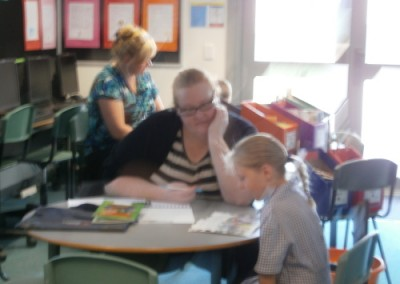 Parents helping with learning