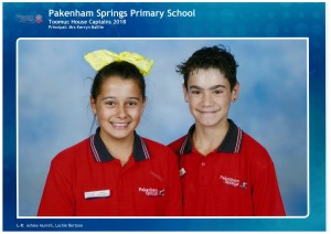 House Captains for Toomuc - Ashlee & Lachlan